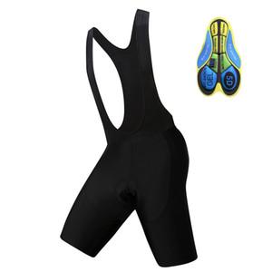 2019 Pure Black Radhose 5D Gel Pad Bib Short Mtb Shorts Herren Damen-Fahrrad-Sommer Fahrradbekleidung