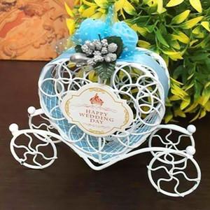 Decoración de hierro sólido estilo europeo Inicio romántico del boda del carro de la calabaza pequeña Caja de accesorios de caramelo