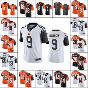 CincinnatiBengalsMen # 9 Joe Burrow 18 A. J. Grün 14 Andy Dalton 28 Joe Mixon 85 Tyler Eifert Frauen JugendNFL Limited Jersey