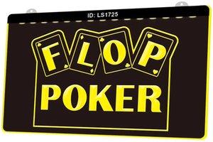 LS1725-флоп игры в покере казино Новой 3D гравировального LED Light Войти Настройка по требованию многоцветность