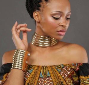 Liffly Afrika Boncuk Takı Seti Abartılı Gerdanlık Kolye Bilezik Seti Kadınlar Nijeryalı gelin Düğün Takı Setleri