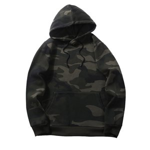 Camouflage Hoodies Herren 2019 New Sweatshirt Herren Camo Hoody Hip Hop Herbst Winter Fleece Hoodie Us Plus Size