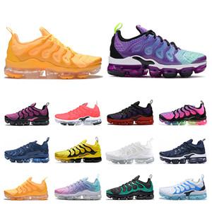 Moda 2020 zapatos corrientes TN Plus para hombres, mujeres, zapatillas de deporte para hombre de la marca Deportes Trianers Light Blue actual Be True tensión púrpura