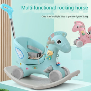 Детская лошадь 1-5-летний ребенок крытая и открытая Аренда качалки такси многофункционального двойного назначение ребенок качалка