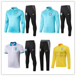 2020 2021 브라질 남성 자켓 폴로 셔츠 COUTINHO 축구 키트 예수 20 21 긴 짧은 소매 운동복 축구 Firmino 브라질 훈련 정장