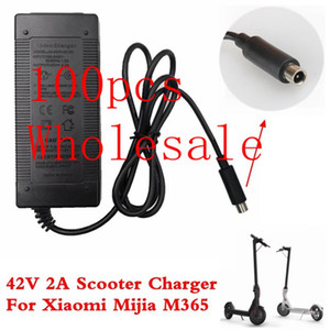 샤오 미 Mijia M365 전기 스쿠터 스케이트 보드 EU / AU / 영국 플러그 100PCS 42V 2A 스쿠터 충전기 충전기 전원 공급 어댑터