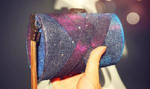 Hot 2020 New Fashion Ladies Hand Holding Evening Bag Color Changing Satin Tassel Banquet Bag