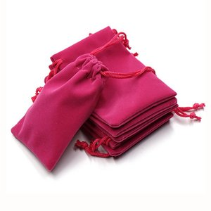 Soft Velvet Pouches Drawstrings for Jewelry Gift Packaging Pack of 100 Pouch Bags for party wedding Supplies Black