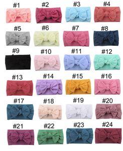 2020 Yeni Bebek Turban Kafa Yumuşak Naylon Headwraps Bow Knot Bantlar Sıkı Saç Bantları Çocuk Küçük Kız Moda Saç Aksesuarları