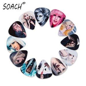 SOACH 50pcs 0.46 0.71 1.0mm Acoustic guitar picks bass Musical Instruments Fashion charm girl guitar paddle ukulele accessories