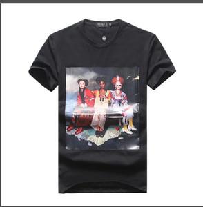 2019 verão puro algodão moda T-shirt gola redonda cor pura xia bordado Paul homens camisa mangas curtas T-shirt homem.