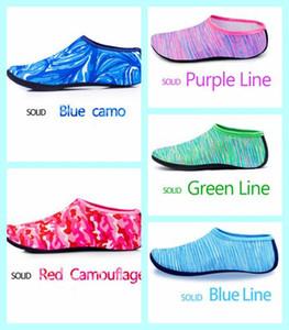 Natação Water Sport Socks Crianças Homens Mulheres Snorkeling Anti Slip Shoes Yoga Dança Surf Mergulho Shoes Camouflage listrado LXL05-1