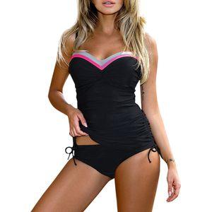 ISHOWTIENDA Women Plus Size Print Tankini Swimjupmsuit Swimsuit Beachwear Padded Swimwear Monokini stroje k pielowe damskie
