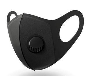 В Наличии! Унисекс губка пылезащитный анти PM2. 5 загрязнение маска для лица с клапаном 3-х слоев с дыханием широкие ремни моющиеся многоразовые глушитель Питта