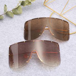Gafas de sol grandes del marco curva siameses Uk Moda Unisex gafas de sol grandes siameses caliente al aire libre que conduce a caballo Anteojos