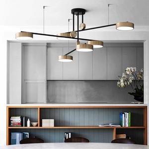 220V pós-moderno de luxo LED Pendant luzes para a Sala da lâmpada minimalista Atmosfera Hotel Villa Rotating luminária