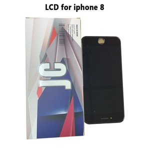 10PCS استبدال الهاتف LCD لشاشة اي فون 8 LCD التي تعمل باللمس الجودة OEM العرض الجمعية محول الأرقام للحصول على 8 LCD أسود / قطع غيار هواتف البيضاء
