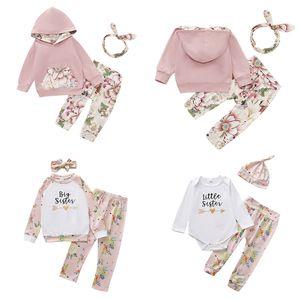 Bebek Bebek Çiçek Kız Küçük Çiçek Pocket Hoodie Çocuk Casual Giyim Bebek Kız Karikatür Harf Şapka Casual Giyim 06 Tops ayarlar