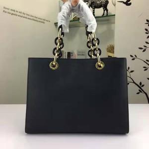 Frau Luxus Echtes Leder Cowhide Crossbody Tasche Europäische und amerikanische Stilkette mit der gleichen Farbe Ringverschluss Handtasche