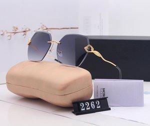 Popular Frameless Designer Brand Sunglasses Retro Vintage Glasses Classic Women Luxury Gradient UV400 Eyewear Sun glasses