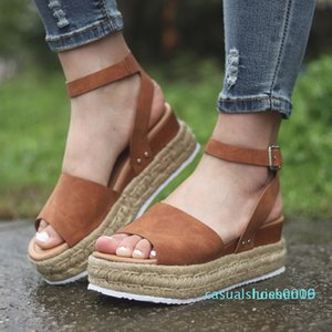 Shujin Flop Chaussures Femme Platform Sandalia Sandals Mulheres Cunhas Sapatos Bombas Salto Alto Sandálias Verão 2020 c09 l16
