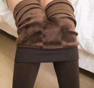 Donne inverno caldo addensare addensare velluto leggings pantaloni abiti leggings vita alta vita sottile pantaloni stretch a colori solidi leggings da donna biancheria intima da donna