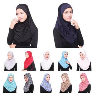 UAE Islam Arabia Hijab Amira Caps Women Muslim Turban Hijabs Head Cover Mujer Bonnet Headscarf Underscarf Worship Hats New