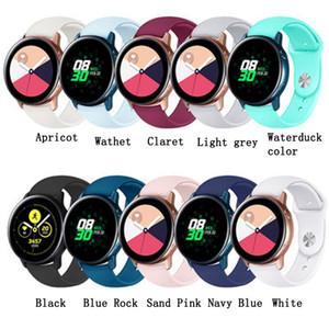Color puro correa de silicona inversa Banda de reloj 20MM para Samsung Galaxy Watch Active Watch Dial 42MM