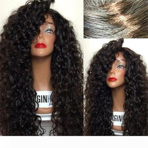 8A Cheap Human Hair Wigs For Black Women Brazilian Virgin Hair Wigs Deep Curly Wigs For Sale With Baby Hair