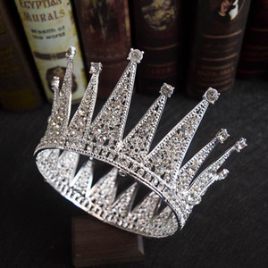 2019 nouveau style rétro twinkling Bling Bling mariée ronde couronne église mariage princesse coiffure Diadèmes