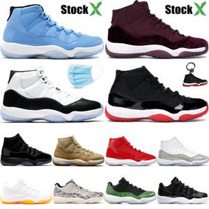 Jumpman nouveau 11 11s hommes chaussures de basket-ball Heiress pantone marron nuit 45 femmes concord Bred bas serpent blanc agrumes hommes en plein air chaussures de sport