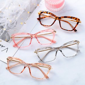 Fashion Cat Eye Glasses Frame Faceted Crystal Eyeglasses Can Be Equipped with Myopia Glasses Vintage Womens Sunglasses Frames Eyewear & Acce
