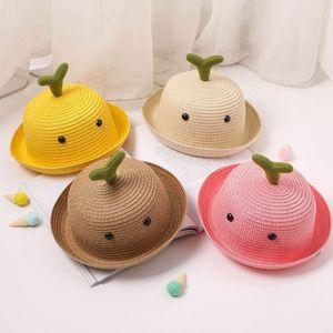 Гавайский пляж соломенные шляпы Детские летние Sun Hat для девочек Для мальчиков Cute Bucket Hat Дети Floppy Cap Широкий Брим Panama Caps Outdoor
