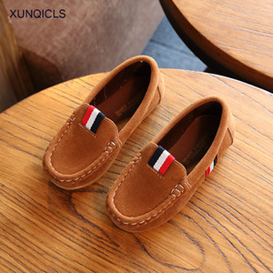 XUNQICLS Children Shoes Fashion Casual Kids Shoes Slip-on Boys Loafers Girls Princess Shoes Soft Sole Baby Flat Sneakers