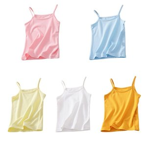 kids underwear 100% cotton girls boys Tanks Tops Baby boy Summer vest girl camisole Children Solid Undershirt Sleeveless Vest