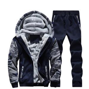 Mens Designer Fashion Casual Survêtements deux pièces Costumes Vêtements de sport pour hommes luxe épais vestes à capuchon Trackpants Set Vêtements actifs Nouveaux