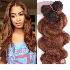 Malayo indio brasileño de la Virgen del pelo de lotes peruana onda del cuerpo del pelo teje color natural # 1 # 2 # 4 # 27 # 99j # 33 # 30 Extensiones de cabello humano