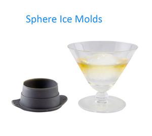 Новый дизайн 2pcs Sphere Ice Cube Формы для классических коктейлей Пейте напитки круглый Ice Mold Pp Силикон BPA Free Diy Tools