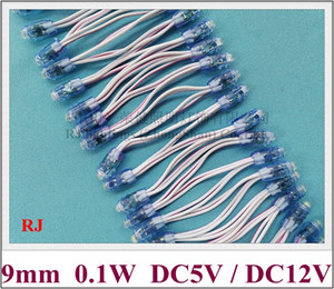 LED pixel module exposed light string for letter sign and channel letter LED perforating light 9mm 0.1W IP66 DC5V   DC12V