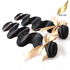 "Indian Hair 8""-30"" Body Wave Human Hair Extensions Natural Color Hair Weft 8A Bellahair 5pcs lot DHL Bulk Wholesale"