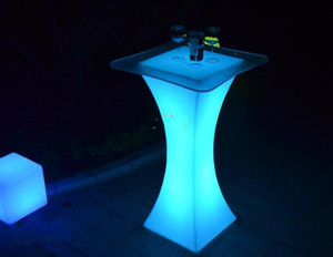 Yeni şarj edilebilir LED ışık kokteyl masa 110cm yüksek su geçirmez led bar masa sehpa bar KTV disko parti kaynağını kadar ışıklı parlayan