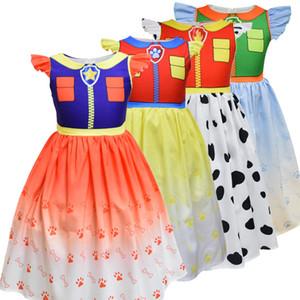 2020 Estate Dog capretti della stampa vestito poco Fly manicotto del fumetto sottile neonate Boutique una linea di abiti per bambini Prestazioni Abbigliamento M1128