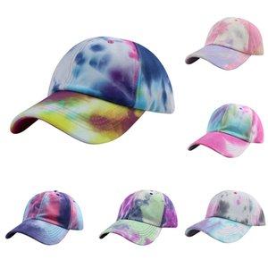 Partito Cappelli Tie-Dye Berretto da baseball estate delle signore di viaggio protezione solare del cappello di Sun Via Coppia Cap Hat design XD23641