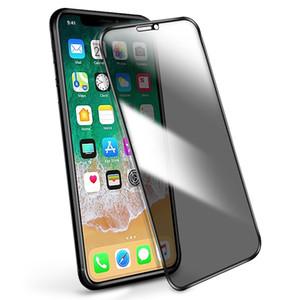 Per Iphone 11 pro x xr xs max 8 7 6 più dello schermo di segretezza vetro temperato della protezione dello schermo a cristalli liquidi Anti-Spy della pellicola della protezione della copertura dello schermo copertura completa