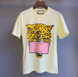 Summer Brand T Shirt for Women Tshirts with Fashion Letters Animal Printted Short Sleeve Lady Tee Shirt Casual Tops 2 Colors Size M-2XL