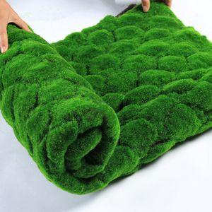100 * 100cm Artificial Moss Gefälschte Grünpflanzen Mat Faux Moss Wand Turf Gras für Shop Home Patio Dekoration im Grünen