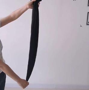 Nouveau droit brésilien Bundles cheveux 36 38 40 8 à -34 pouces 100% de Remy Bundles 3/4 Bundles naturels Noir Extension de cheveux humains