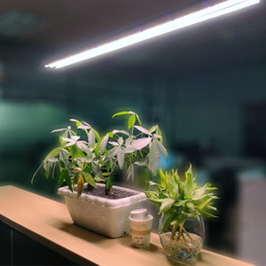 4ft T5 Ho Led Grow Lights Double Strip Bar Full Spectrum Integrated Lamble Fixtures, Plug in, ON/Off Pull Chain Included