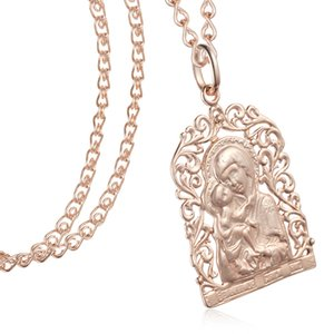 Fashion Jewelry 2 Color Womens Men Girls 585 Rose White Gold Color Pendants Snail Necklace Mother Son Rose God Pendant Chains