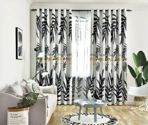 Tropical Blackout et semi Blackout Rideau pour Salon Chambre Fenêtre Feuilles vertes Palmier Traitements Panel Shading Drapé